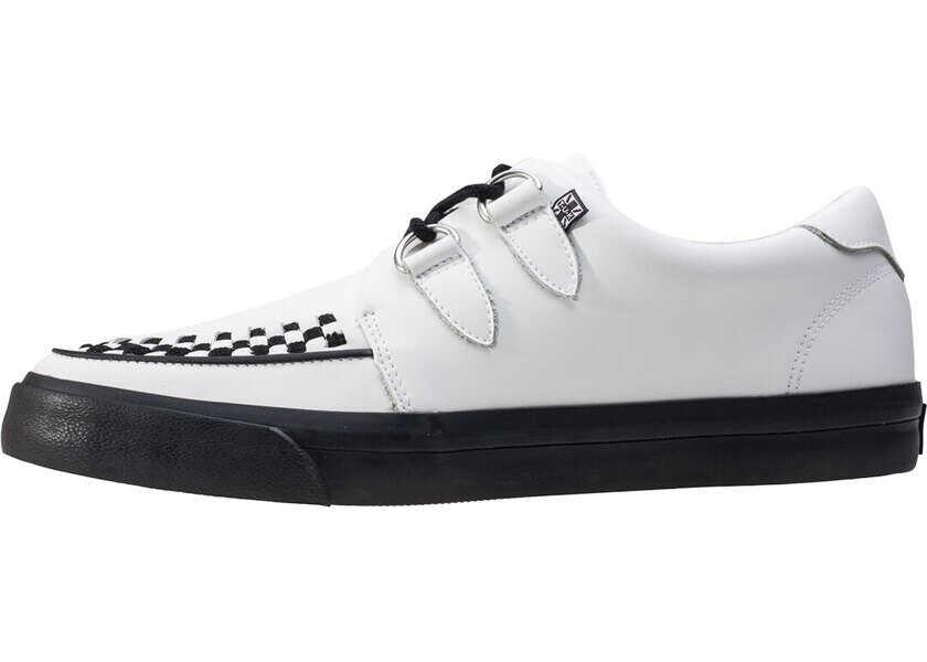Tenisi & Adidasi Barbati TUK Vlk D-Ring Creeper Sneaker Unisex Trainers In White Black