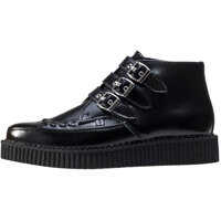 Ghete & Cizme Pointed Creeper Mid 3 Stripes Unisex Ankle Boots In Black Barbati
