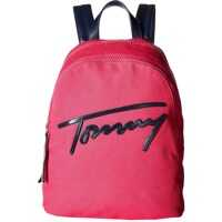 Ghiozdane Tommy Script Backpack Canvas Femei