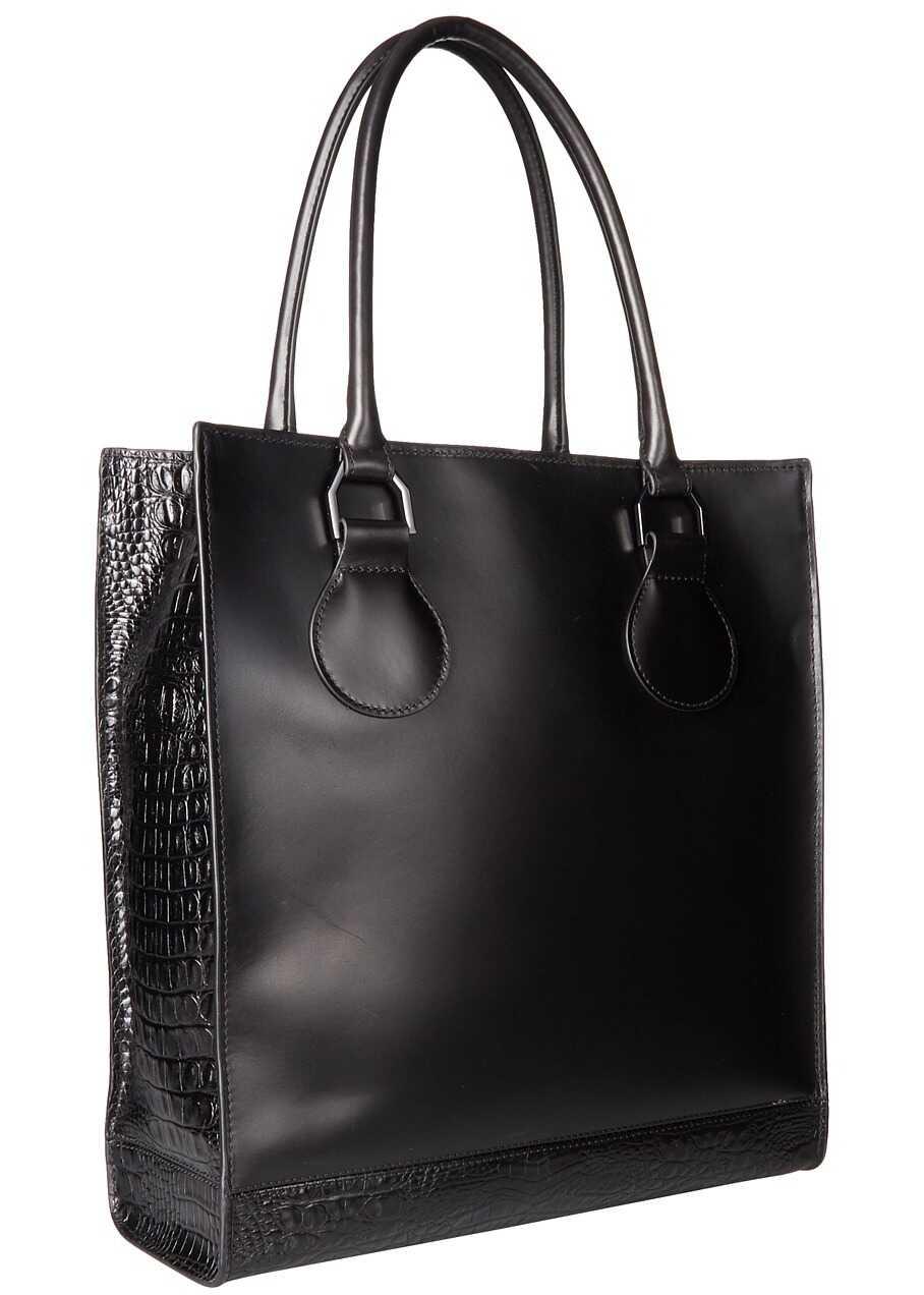 Dr. Martens Lux Tote Bag Black Vibrance Croco
