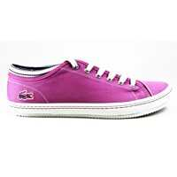 Tenisi & Adidasi Lacoste Shore AP SRW Low Top Canvas Leather Trainers Purple