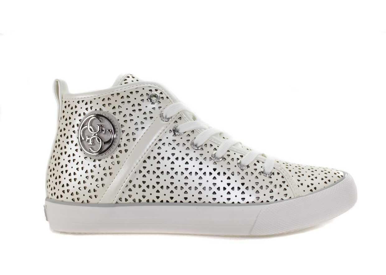 Pantofi Sport Femei Guess Metallic Fabric Biały
