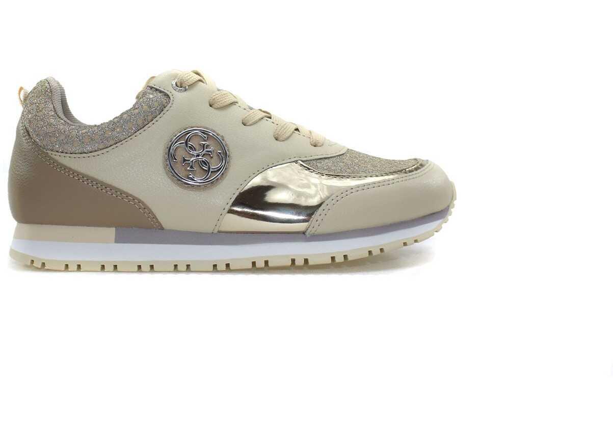 Pantofi Sport Femei Guess Reeta Leather Złoty