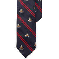Cravate Lion Silk Repp Narrow Club Tie Barbati