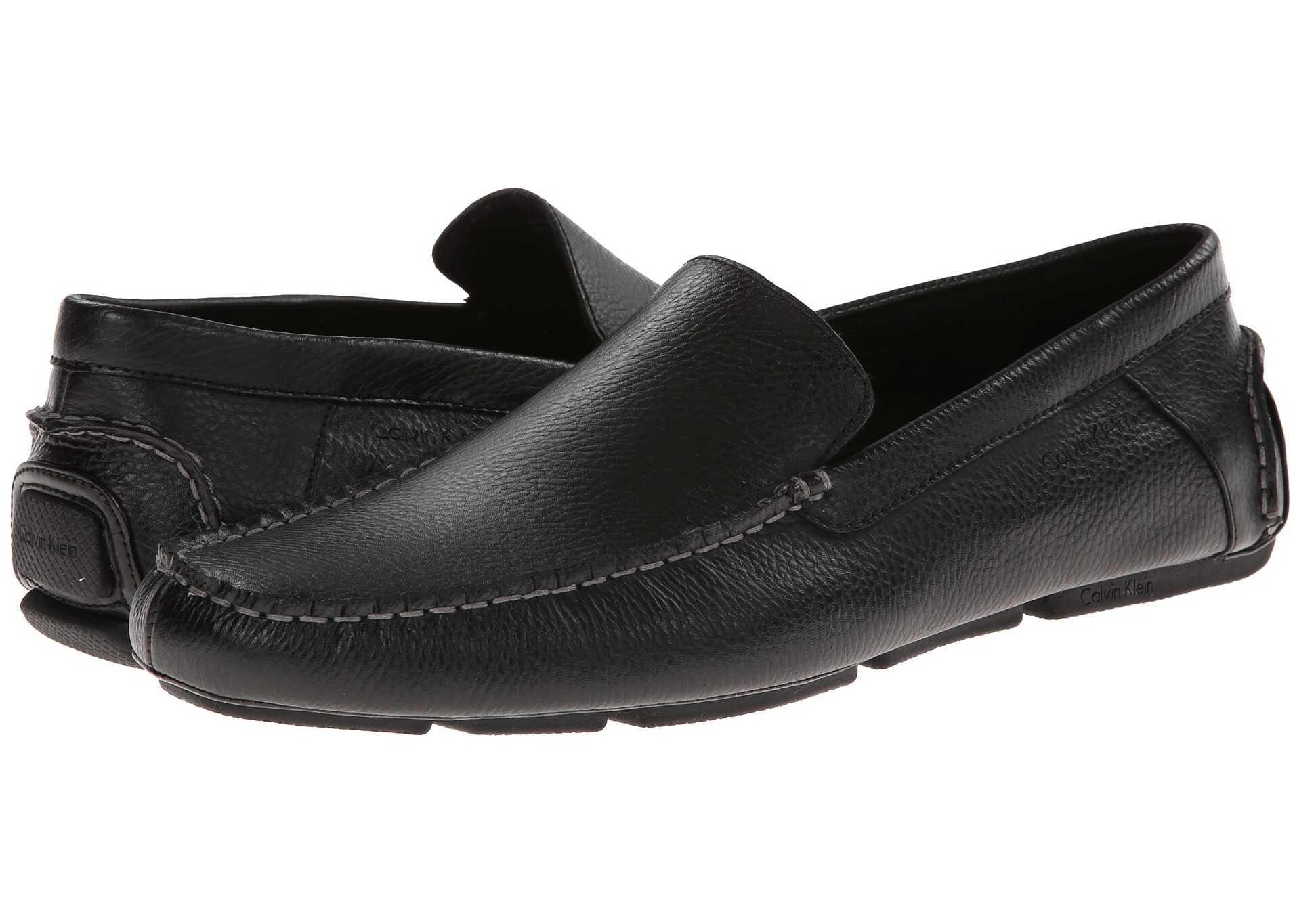 Calvin Klein Menton Black Tumbled Leather