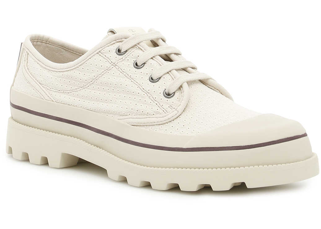 Valentino Garavani Canvas Sneakers ECRU ECRU LIGHT IVORY