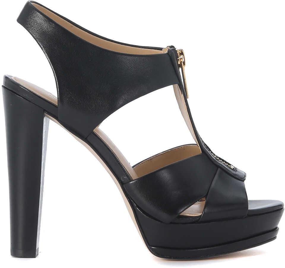 Pantofi Cu Toc Michael Kors Bishop Black Leather H