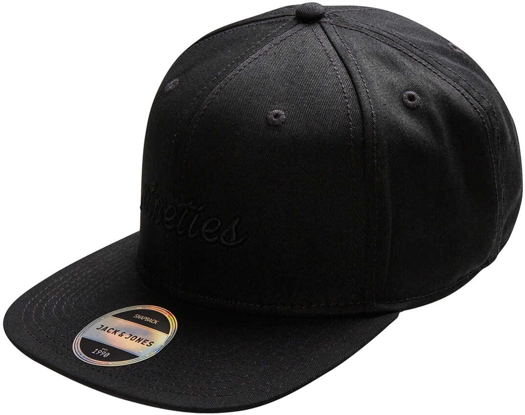JACK & JONES Mens Black Cap Black