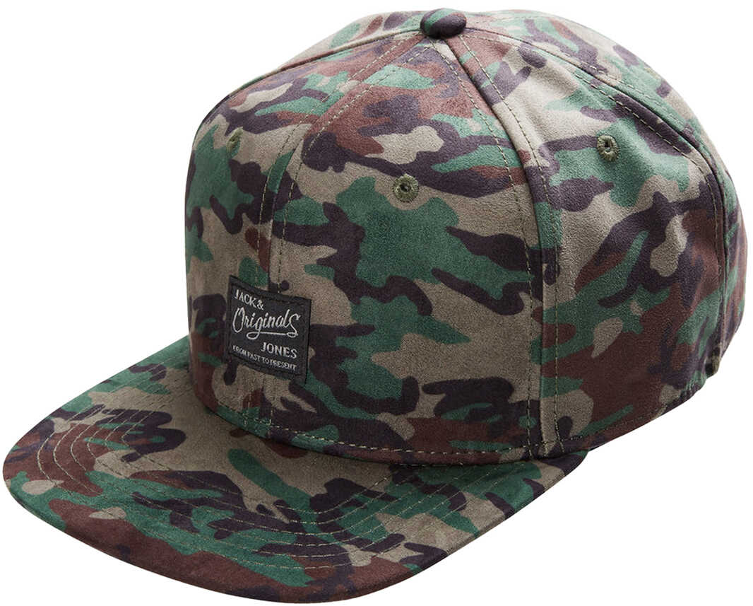 JACK & JONES Mens Cap With Camo Print Camo Print
