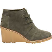 Botine Olive Suede Crepe Women S Wedged Ankle Boots Femei