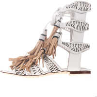 Sandale Redondo Woman's Sandals In White Color Femei