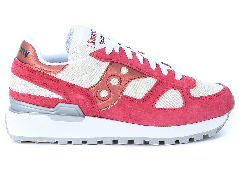 Saucony Sneaker Saucony Shadow Limited Edition In Amaranth Red Suede And Zebra-striped Fabric* Red