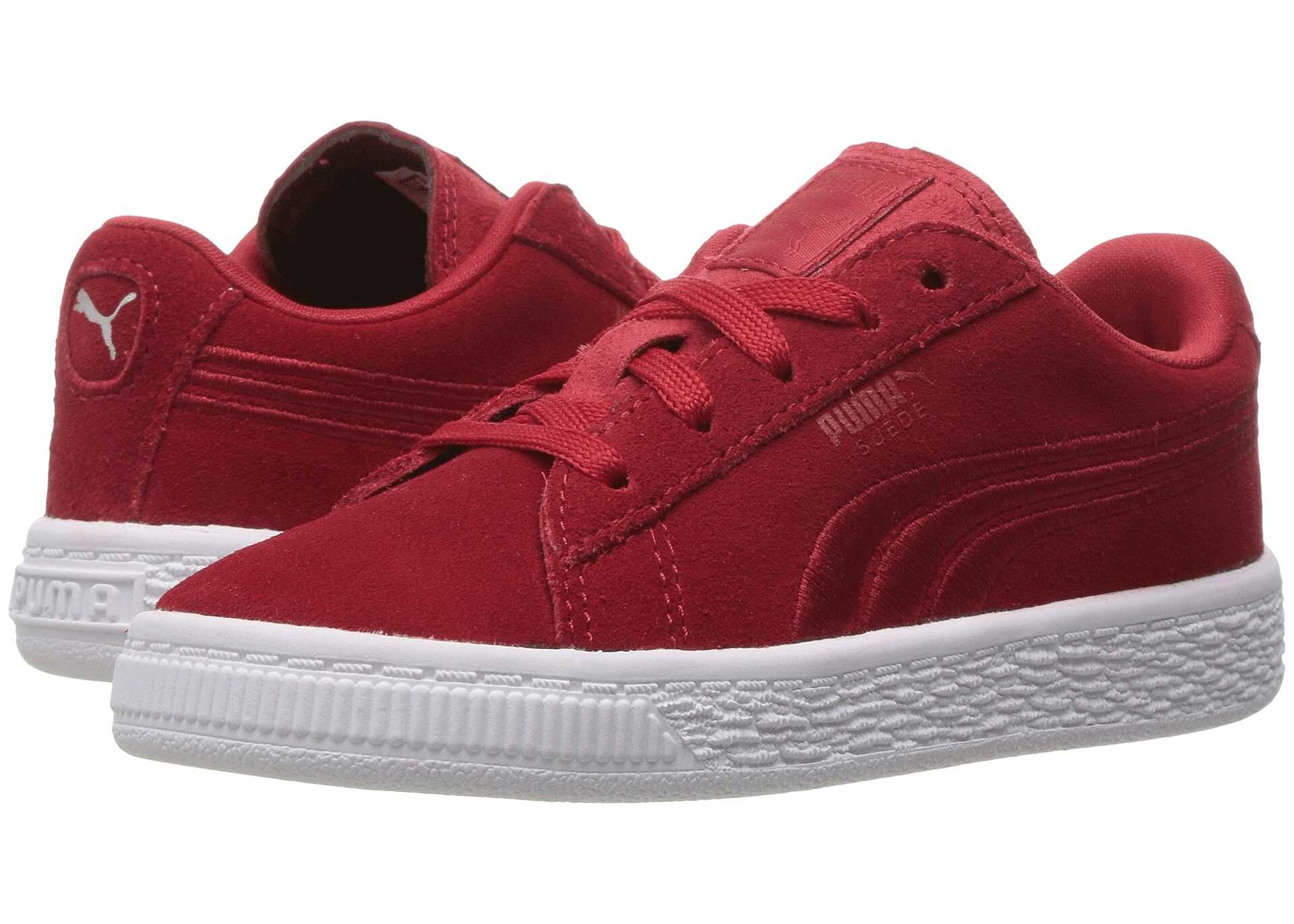 Puma Kids Suede Classic Badge INF (Toddler) Barbados Cherry