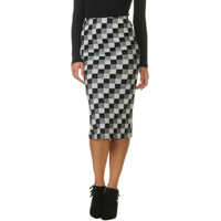 Fuste Women's Midi Skirt With Print Femei