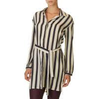 Rochii Women's Striped Shirt Dress Femei