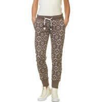 Pantaloni de Trening Ladies Jogg Pants In Beige With Print Femei