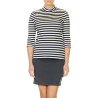 Bluze Mammut Women's Striped Blouse In White And Blue Femei