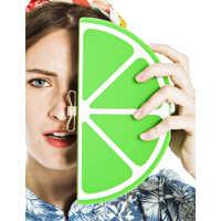Genti de Mana Lima Green Clutch In Lemon Shape Femei