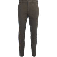 Pantaloni Kaki Cotton Trousers With Colored Band Barbati