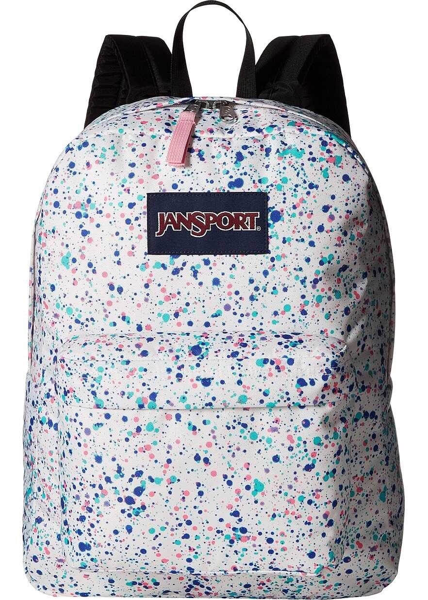 JanSport SuperBreak® Splatter Dot White