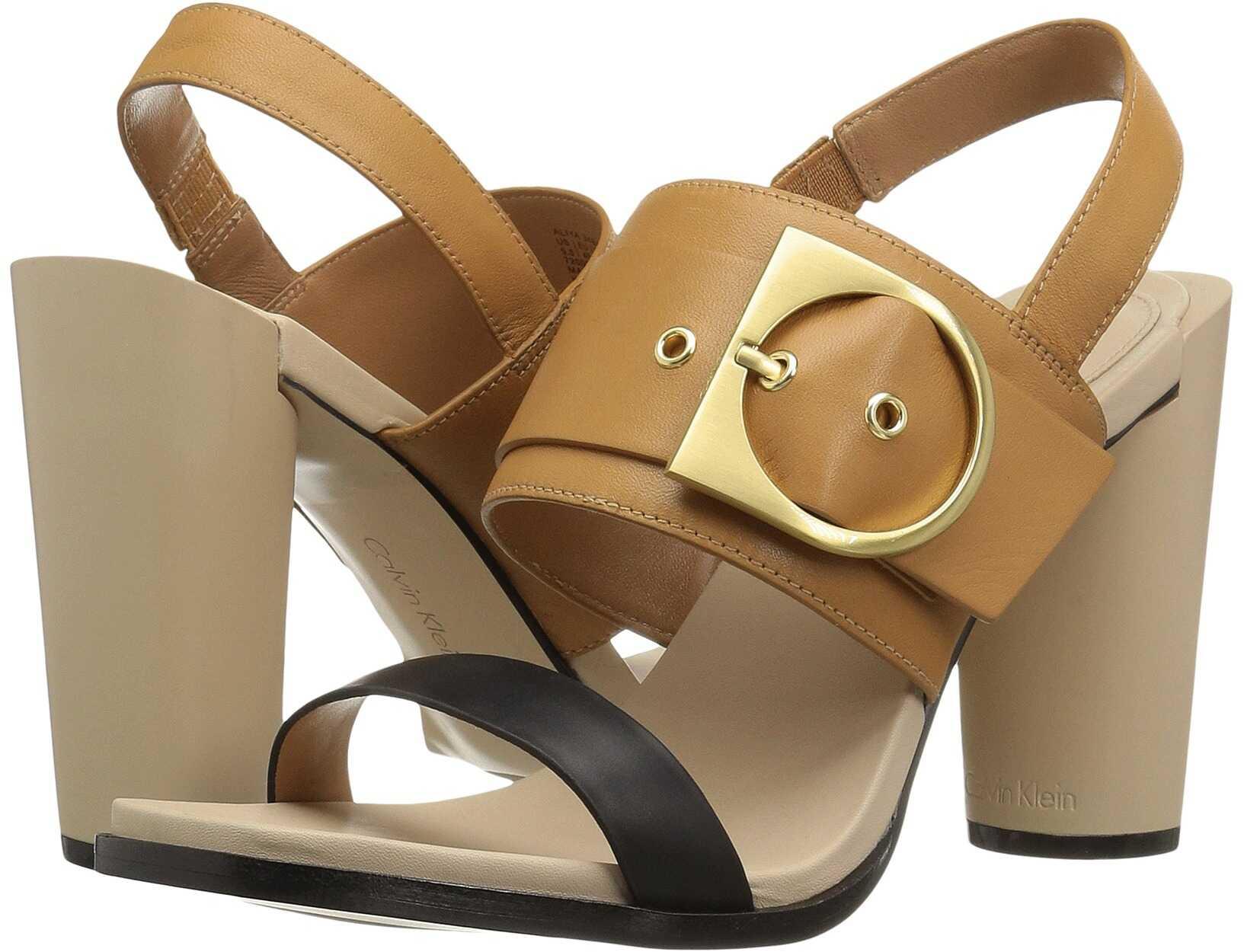 Calvin Klein Aliya Black/Almond Tan Leather