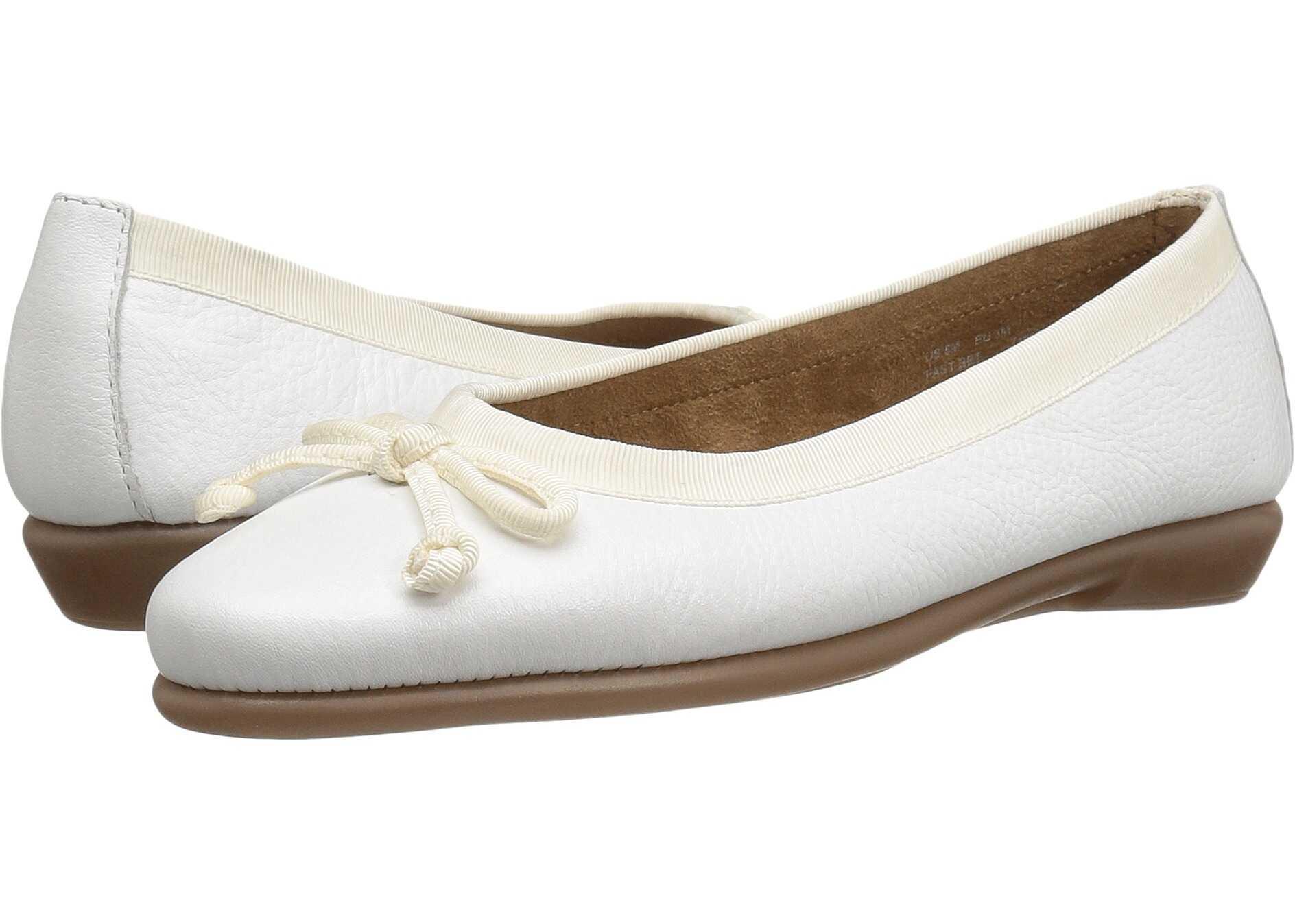 Balerini Femei Aerosoles Fast Bet White Leather