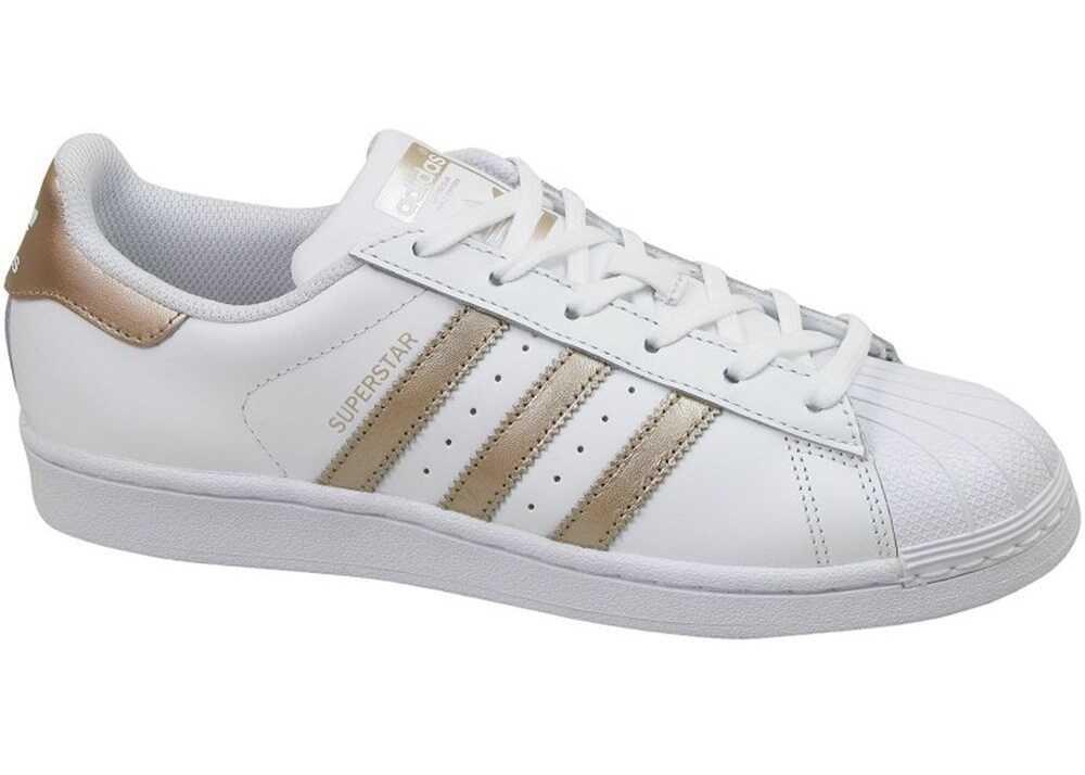 adidas Superstar W Alb/De aur
