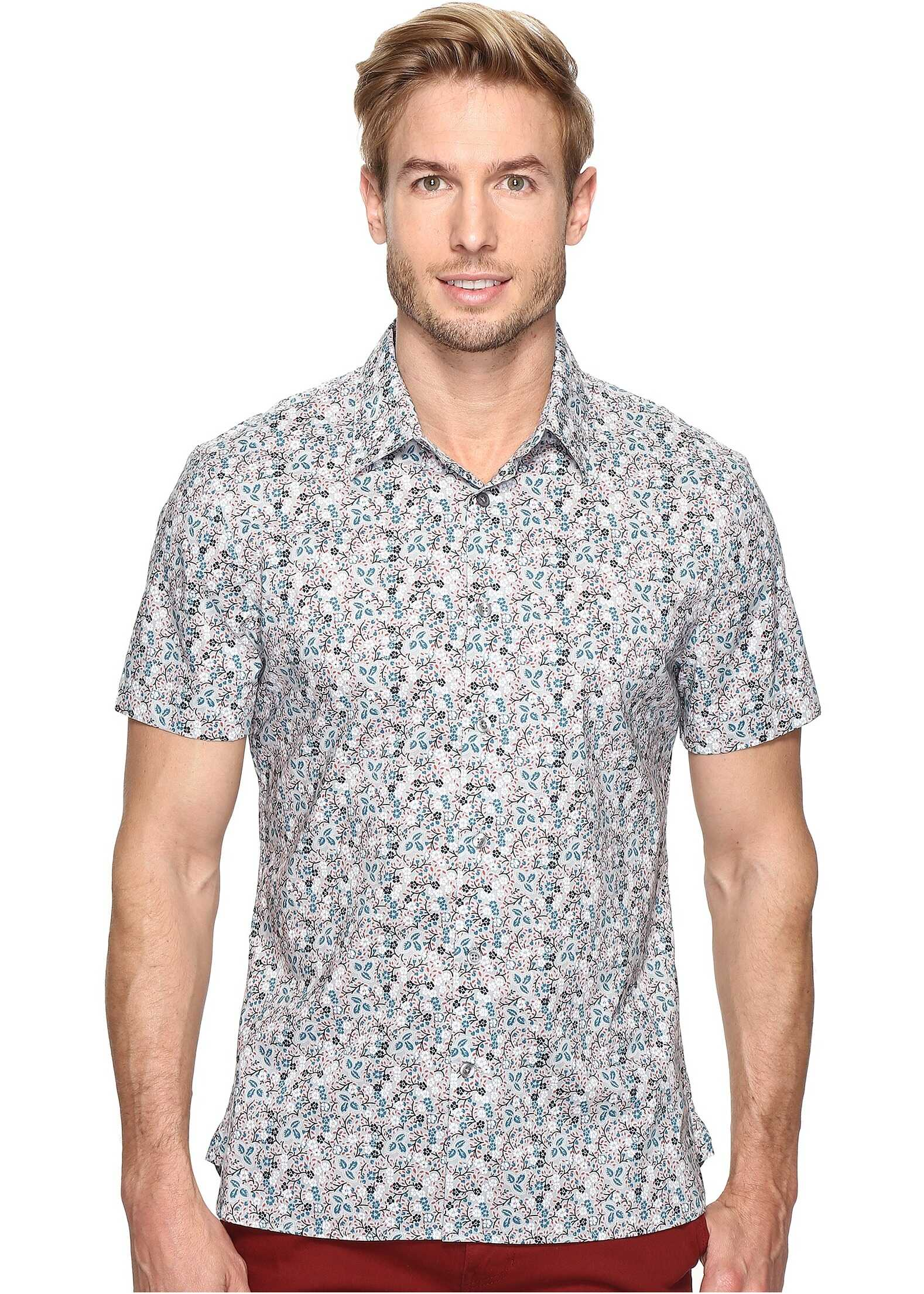 Perry Ellis Floral Printed Shirt* Quarry