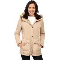 Jachete Quilted Anorak w/ Removable Hood and Faux Fur Femei
