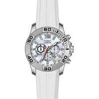 Ceasuri Fashion Pro Diver Chronograph Platinum Dial White Silicone Mens Watch 20297* Barbati