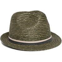 Palarii Unisex Grey Straw Hat Femei