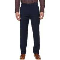 Pantaloni Solid with Dual Action Straight Fit Pants Barbati