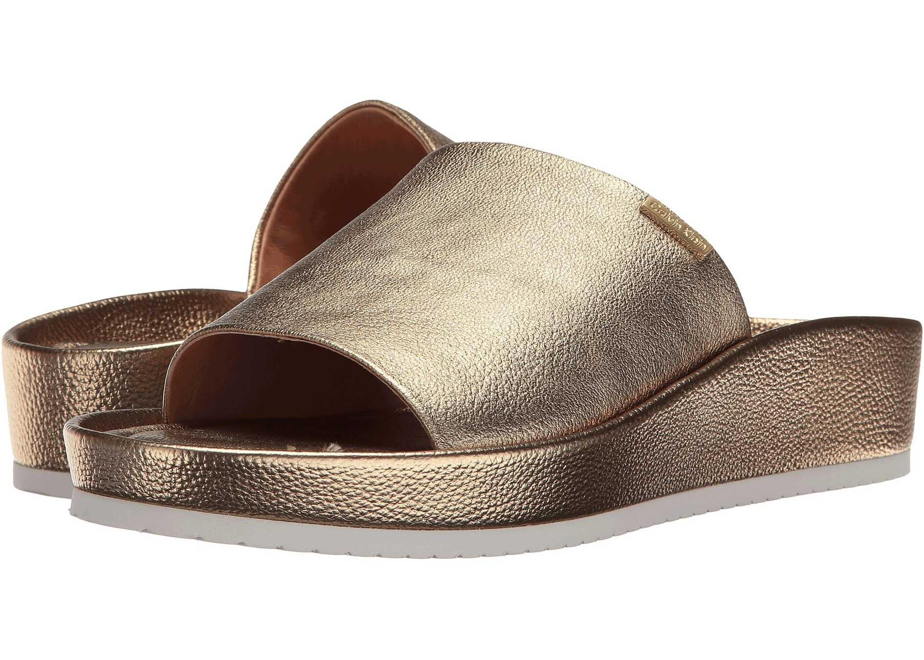 Calvin Klein Hope Gold Finch Metallic Leather