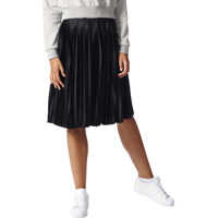 Fuste Pleated Women's Black Midi Skirt Femei
