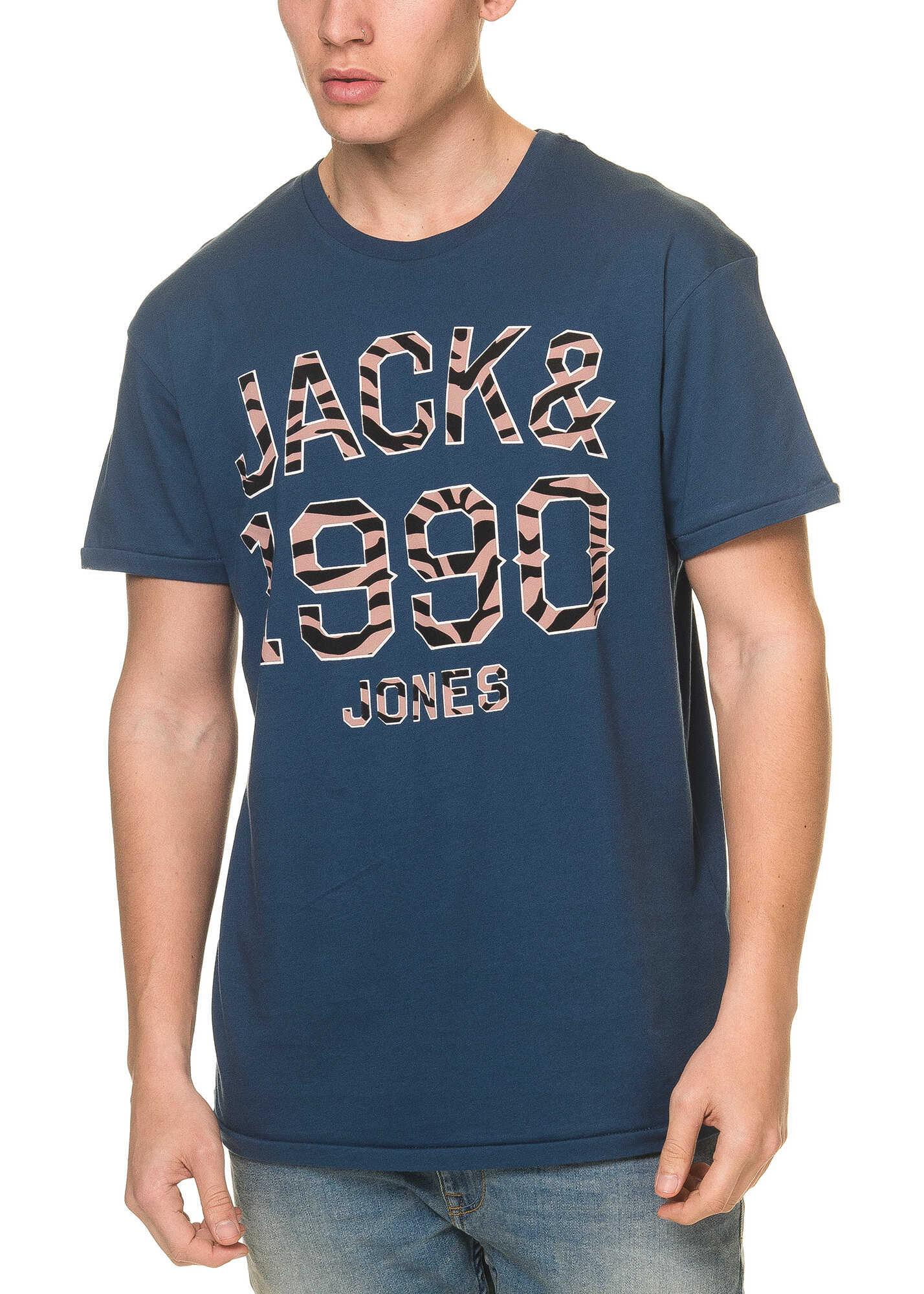Tricou Barbati Jack & Jones Pat Originals Mens Dark Blue T Shirt Dark Denim