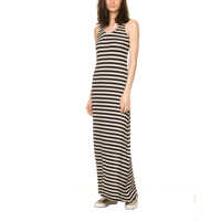 Rochii Women's Ecru Black Maxi Dress Femei