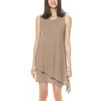 Rochii Women's Beige Asymmetric Dress Femei