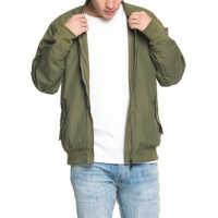 Geci Men S Bomber Jacket In Khaki Barbati