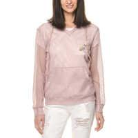 Bluze Women's Light Pink Mesh Top Femei