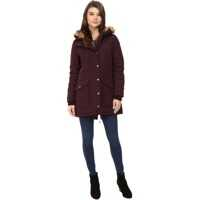 Geci de Puf Levi's® Poly/Artic Full Length Filled Parka with Fur Trim On Hood and Front Panels