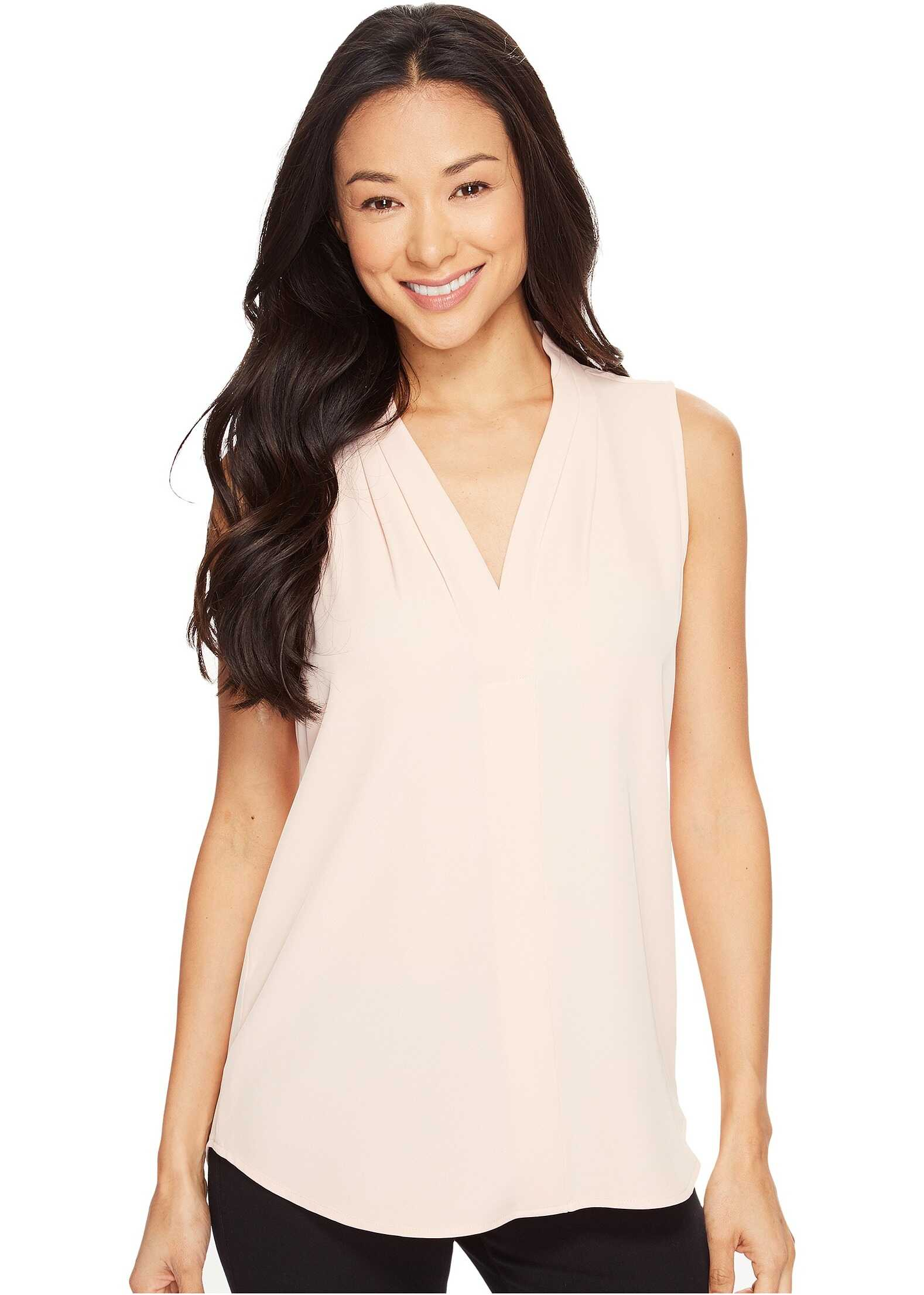 Calvin Klein Blouse w/ Inverted Pleat Blush
