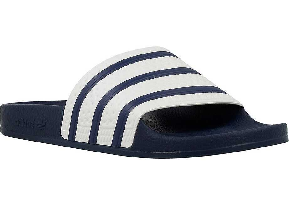 adidas Adilette Alb/Albastru marim