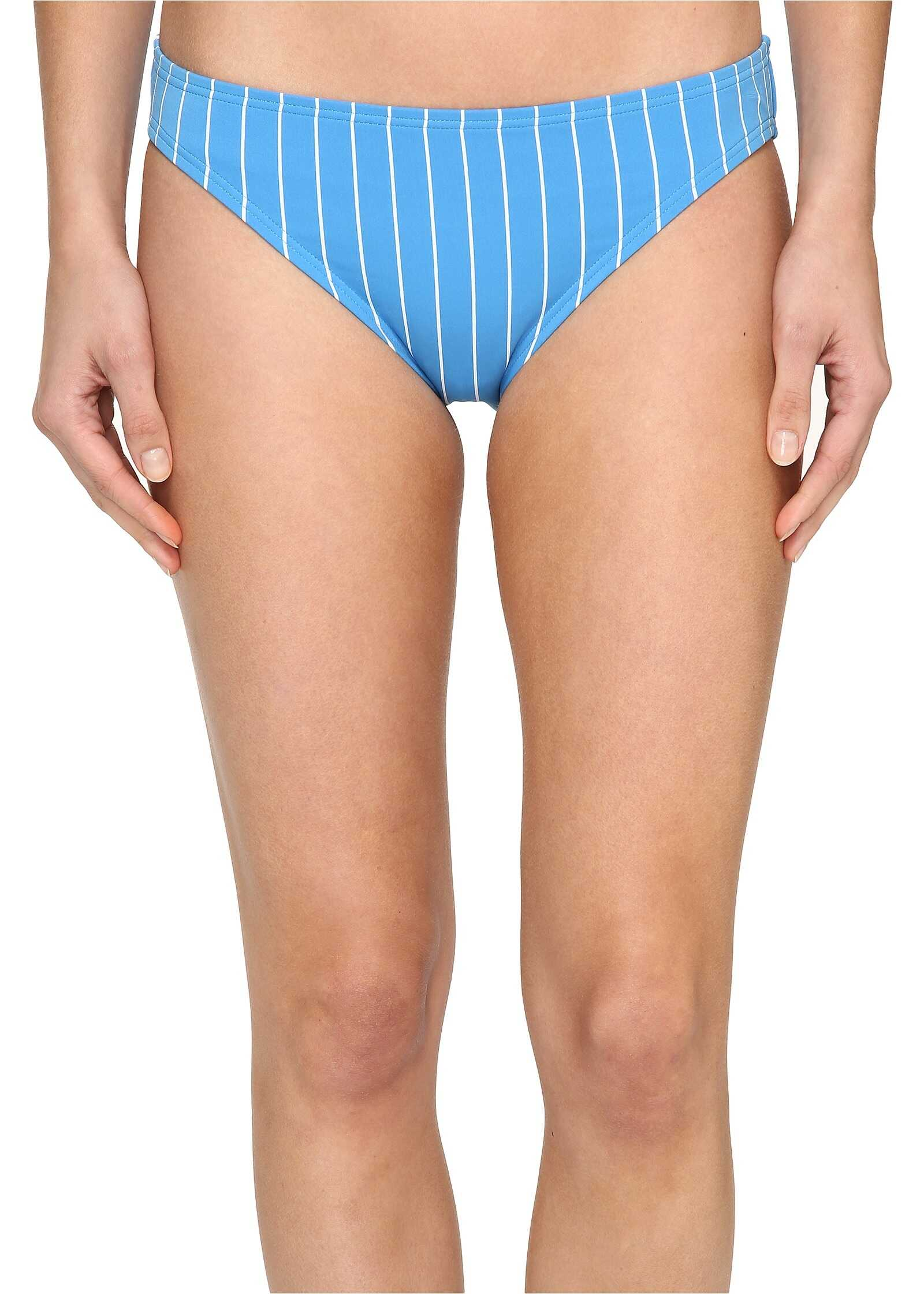Vince Camuto Port Vila Stripe Classic Bikini Bottom Misty Blue