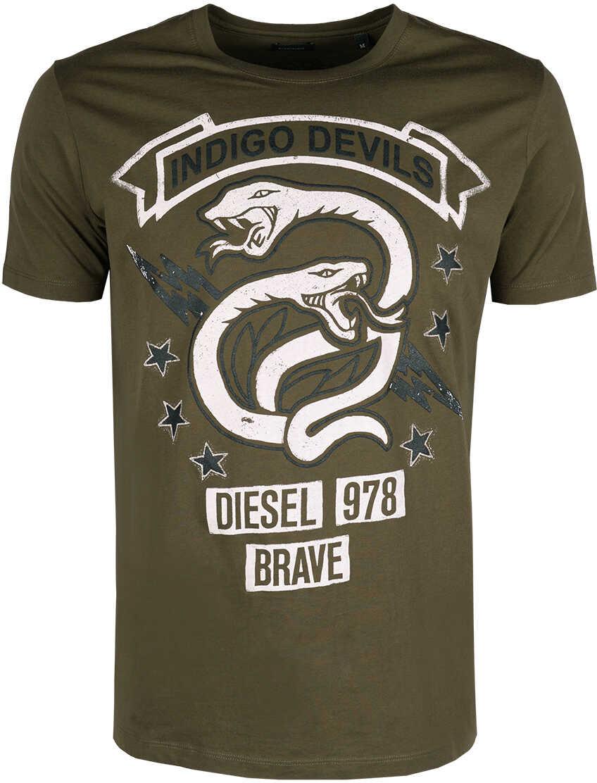 Tricou Barbati Diesel T-shirt T-newyn Wojskowa Zie