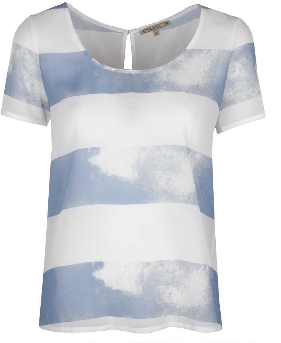 Patrizia Pepe Bluzka Biały, Niebieski