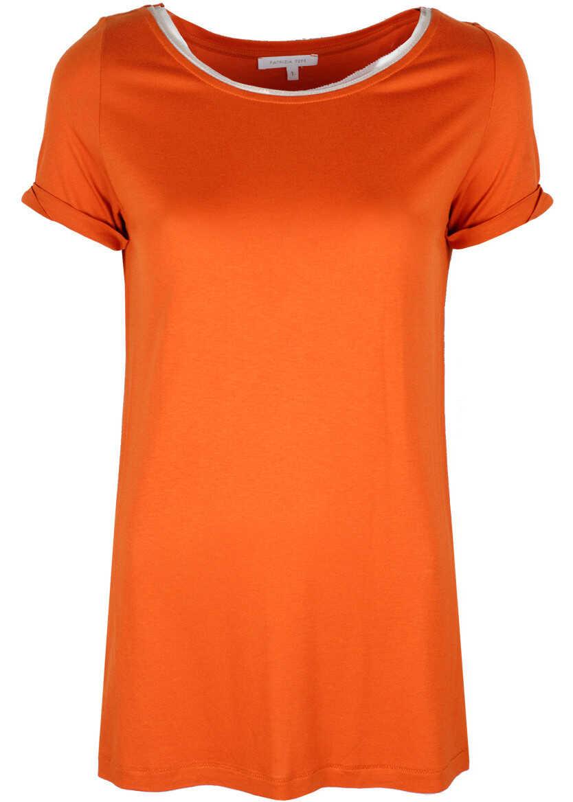 Patrizia Pepe T-Shirt Pomarańczowy