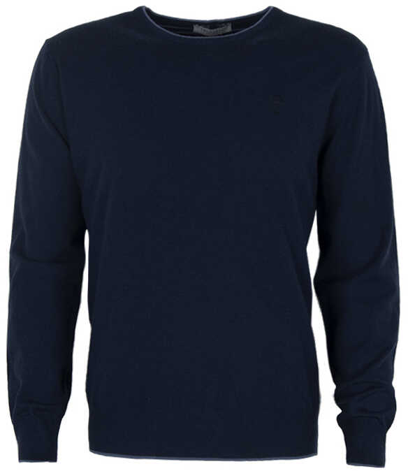 Trussardi Collection Sweter Granatowy