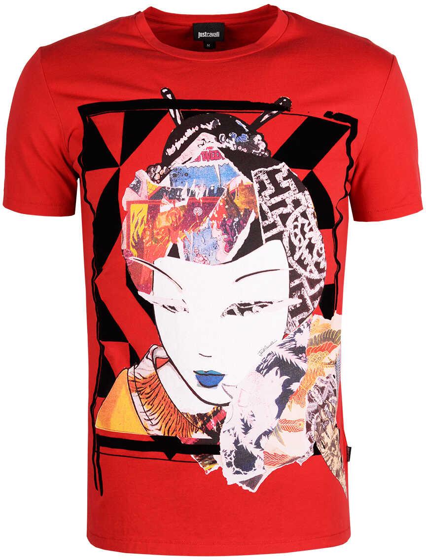 Tricou Barbati Just Cavalli T-shirt Czerwony