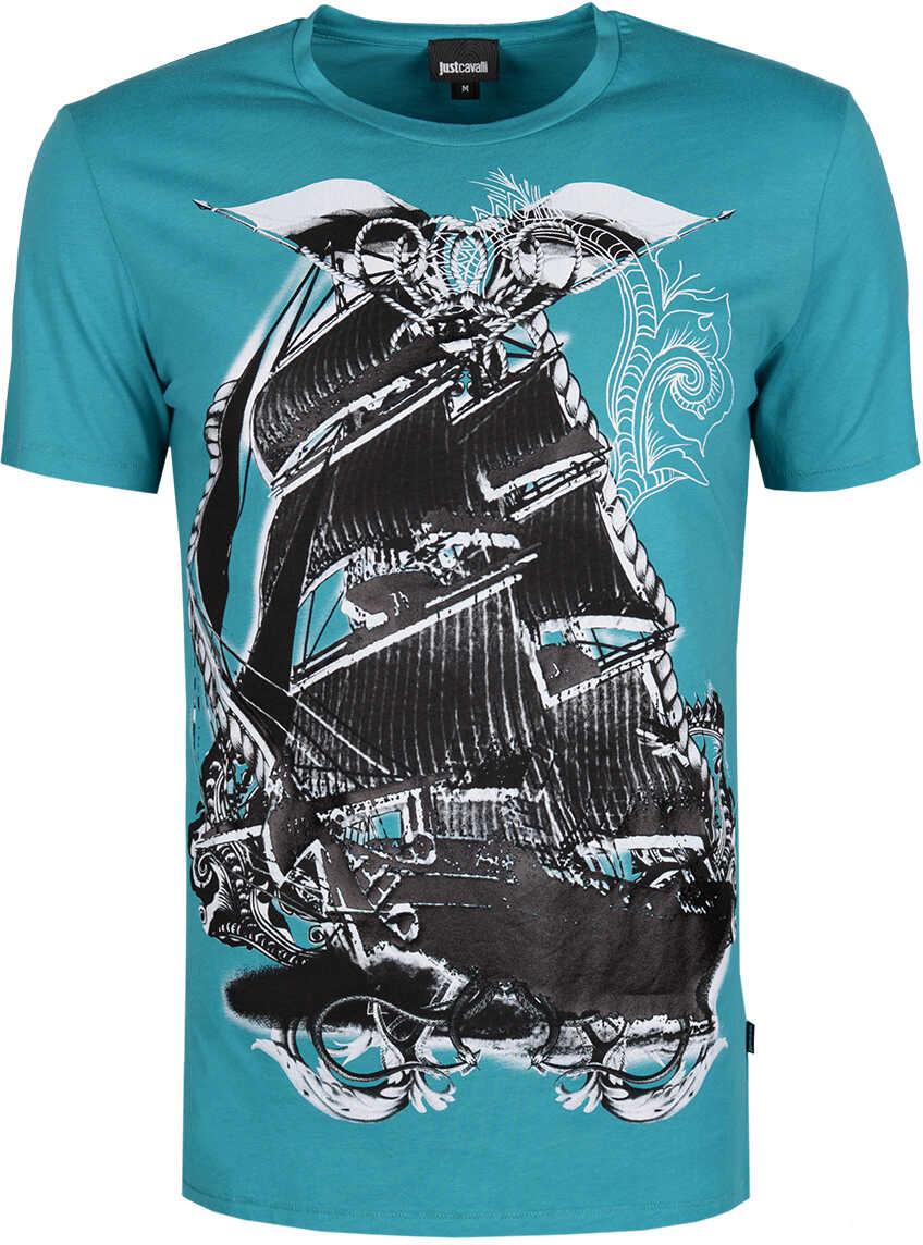 Roberto Cavalli Just Cavalli T-shirt Niebieski, Zielony