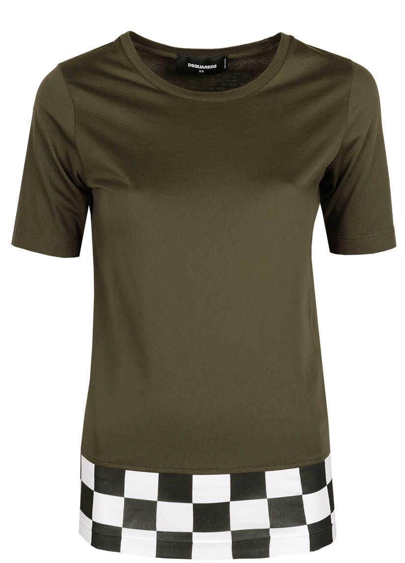 DSQUARED2 T-shirt Wojskowa Zieleń